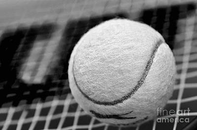 Remember The White Tennis Ball Art Print by Kaye Menner