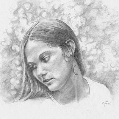 Drawing - Remembered Always by Arthur Fix