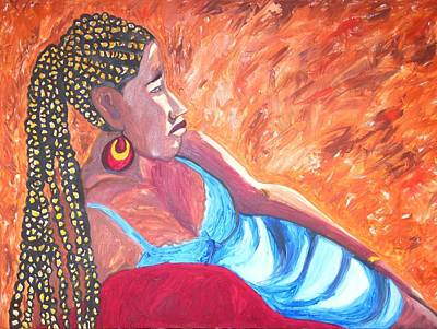 Painting - Remembering Ethiopia by Esther Newman-Cohen