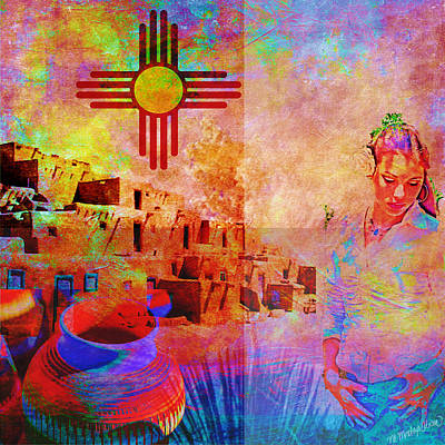 Digital Art - Remembering New Mexico by M Montoya Alicea
