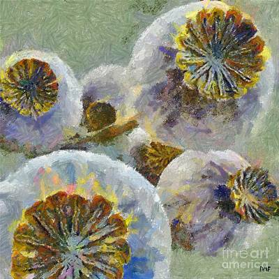 Provence Painting - Remembering The Provence by Dragica  Micki Fortuna