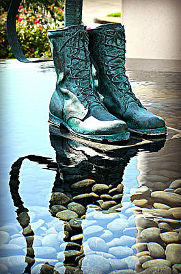 Remembering Those Boots Art Print by Ingrid Zagers