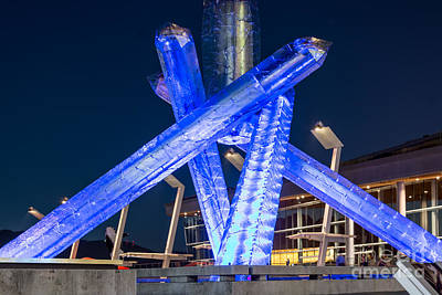 Vancouver At Night Photograph - Remembering Vancouver Olympics - By Sabine Edrissi by Sabine Edrissi