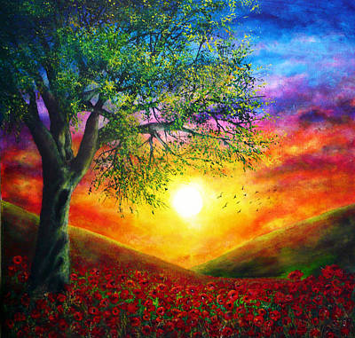 Vibrant Painting - Remembrance by Ann Marie Bone
