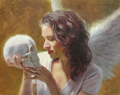 Angelic Painting - Remembrance by Anna Rose Bain