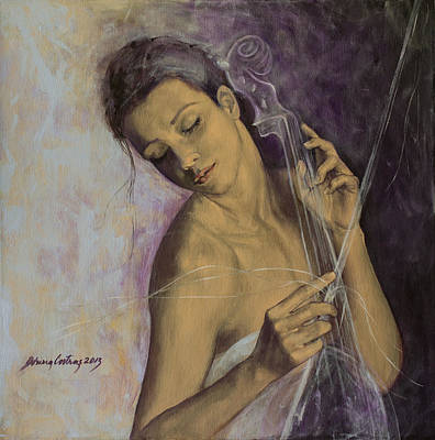 Cello Painting - Remembrance by Dorina  Costras