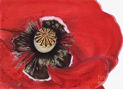 Drawing - Remembrance by J McCombie
