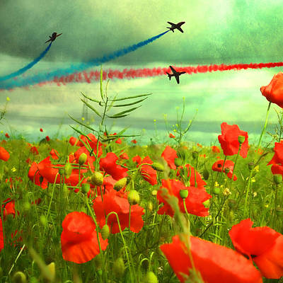 Poppies Field Mixed Media - Remembrance  by Sharon Lisa Clarke