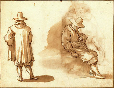 Wash Drawing - Remigio Cantagallina, Italian 1582-1583-1656 by Litz Collection