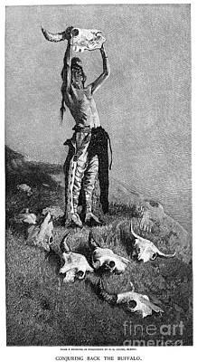 Buffalo Extinction Photograph - Remington: Buffalo, 1892 by Granger