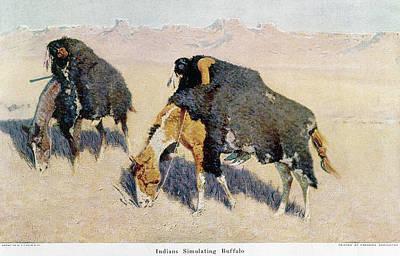 Remington Buffalo Hunt Art Print