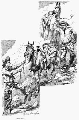 Remington Drawing - Remington Cowboys, 1887 by Granger