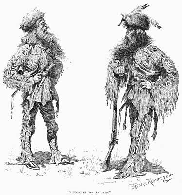 Remington Drawing - Remington Frontiersmen by Granger