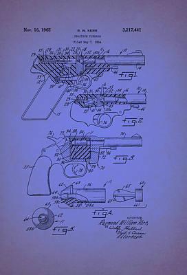 Remington Drawing - Remington Practice Pistol Patent 1965 by Mountain Dreams