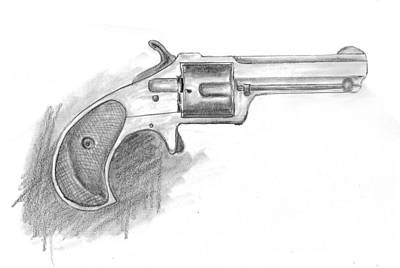 Drawing - Remington Smoot 1873 by Kevin Callahan
