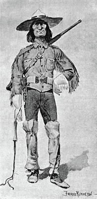 Caricature Painting - Remington Soldier, 1890 by Granger