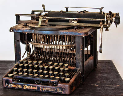 Photograph - Remington Typewriter by David and Carol Kelly