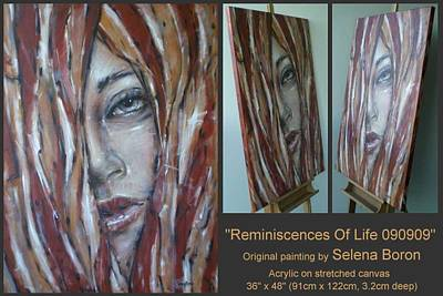 Art Print featuring the painting Reminiscences Of Life 090909 by Selena Boron