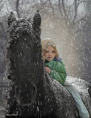 Black Friesian Photograph - Remme And Rory by Fran J Scott