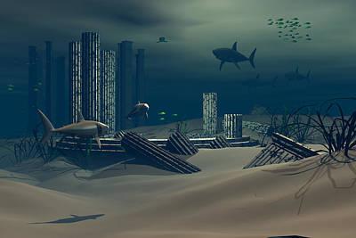 Remnants Of Atlantis Revisited Art Print