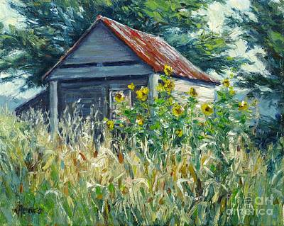 Painting - Remnants Of My Garden by Vickie Fears