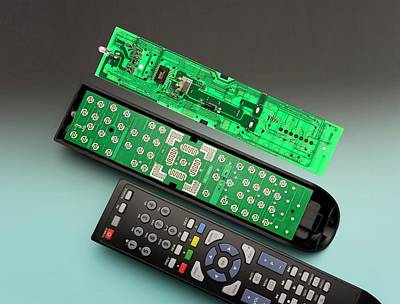 Led Lights Photograph - Remote Control Printed Circuit Board by Sheila Terry