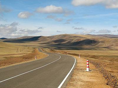 Photograph - Remote Highway Mongolia by Diane Height