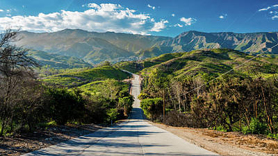 Ojai Wall Art - Photograph - Remote Road North Towards Santa Barbara by Panoramic Images