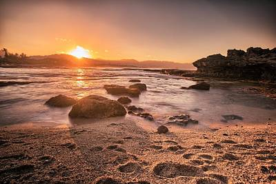 Photograph - Remote Sunset by Chris Multop