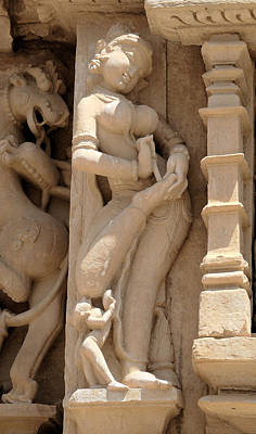 Khajuraho Dancer Photograph - Removing A Thorn by C H Apperson
