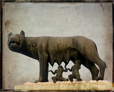 Wolf Art Photograph - Remus And Romulus by Bernard Jaubert