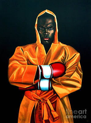 Black Man Painting - Remy Bonjasky by Paul Meijering