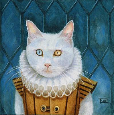 Renaissance Cat Art Print