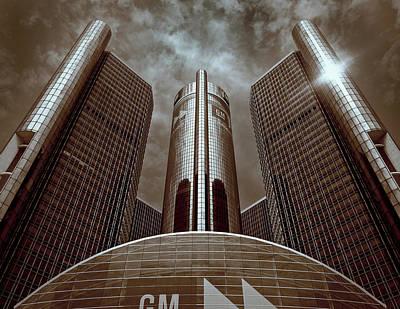 Photograph - Renaissance Center - Detroit by James Howe