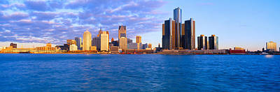 Lodging Photograph - Renaissance Center, Detroit, Sunrise by Panoramic Images