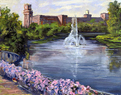 Painting - Renaissance Fountain by Ken Fiery