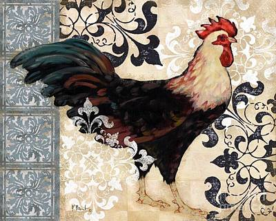 Wall Art - Painting - Renaissance Rooster I by Paul Brent