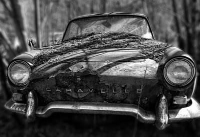 Photograph - Renault Caravelle In Black And White by Greg Mimbs