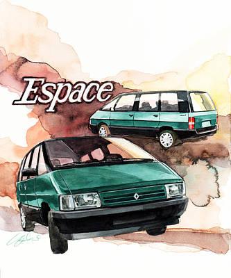 Renault Espace Art Print by Yoshiharu Miyakawa