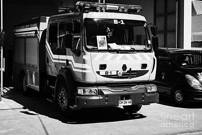 Bomba Photograph - Renault Fire Trucks Tenders Constitucion Fire Station Chi by Joe Fox