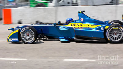 Photograph - Renault Race Team Eprix Miami by Rene Triay Photography