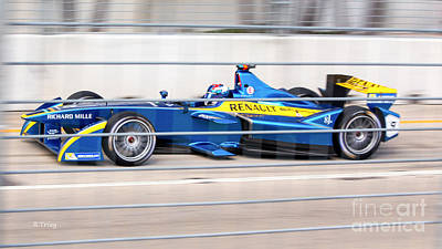 Photograph - Renault Race Team Eprix Championship Race by Rene Triay Photography