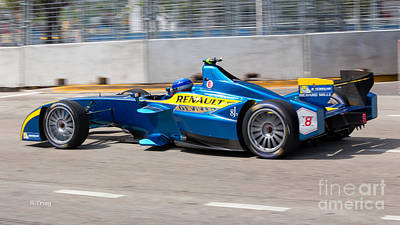 Photograph - Renault Winner Of The Miami Eprix by Rene Triay Photography