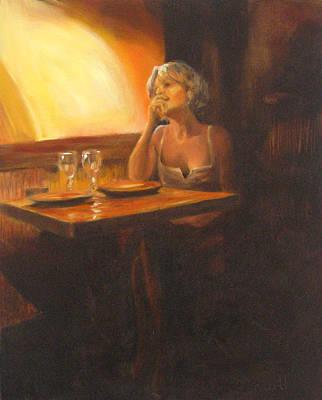 Rendevous At The Indian Restaurant Art Print