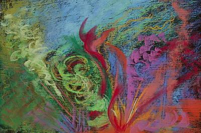 Pastel - Rendezvous Fireworks by Jocelyn Paine