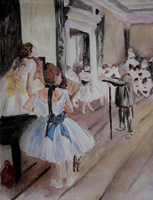 Ps I Love You - Dance Class by Degas by Donna Walsh