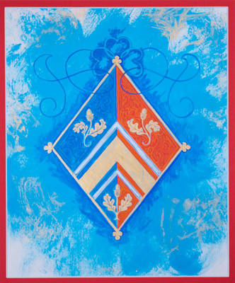 Rendition Of Hrh Duchess Kate Personal Coat Of Arms Original by Andrew Stewart Jamieson