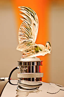 Rene Lalique -coq Nain - 1930 Bentley Speed Six H.j Mulliner Saloon Hood Ornament Print by Jill Reger