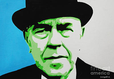 Rene Magritte Painting - Rene Magritte by Nancy Mergybrower