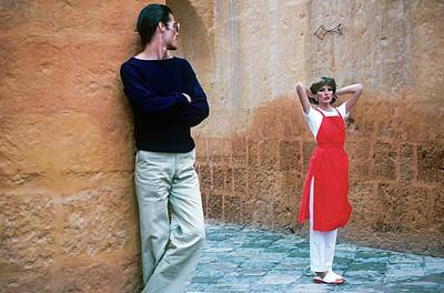 Young Man Photograph - Rene Russo And A Male Model In Arequipa by Francesco Scavullo